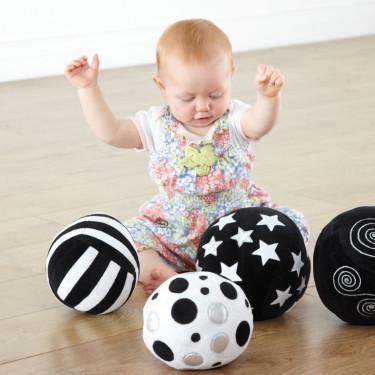 zachte zwart wit ballen