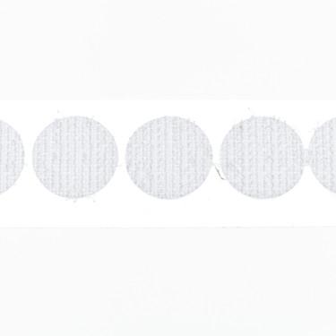 klittenband rondjes haak 15 mm 1300 st wit