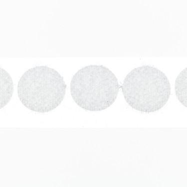 klittenband rondjes lus 15 mm 250 st wit