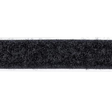 Zelfklevend Klittenband 16 mm lus zwart