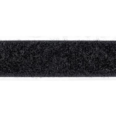 Zelfklevend Klittenband 20 mm lus zwart