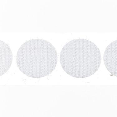 klittenband rondjes haak 22 mm 250 st wit