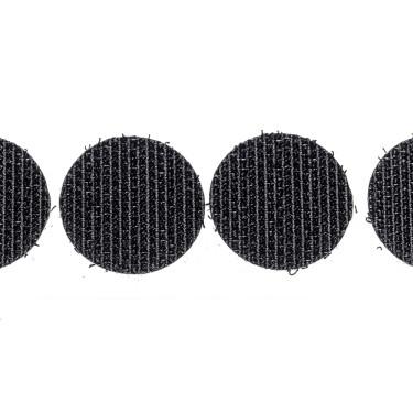klittenband rondjes haak 22 mm 250 st zwart