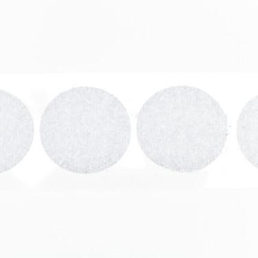 klittenband rondjes lus 22 mm 250 st wit