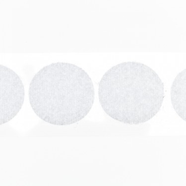 klittenband rondjes lus 22 mm 1000 st wit