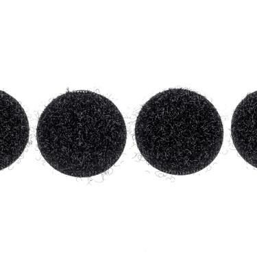 klittenband rondjes lus 22 mm 250 st zwart