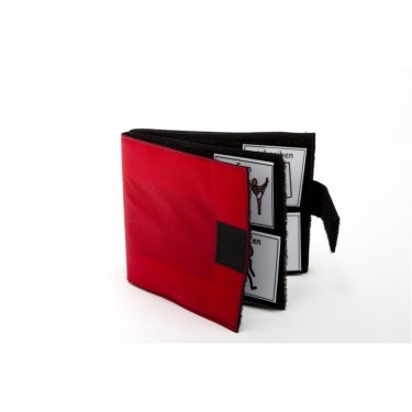 Klittenviltboekje rood