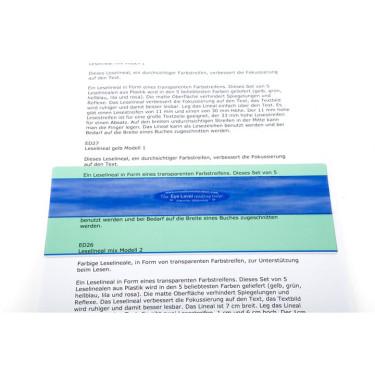Leesliniaal aqua model 1