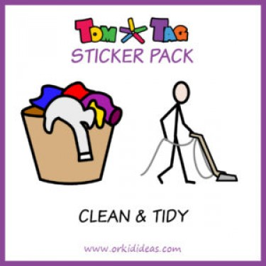 TomTag stickers huishoudelijke taken