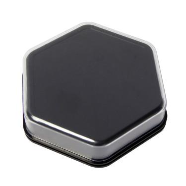 Zeshoekige praatknop zwart | Talking Tile