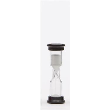 Kleine zwarte zandloper van 1 minuut