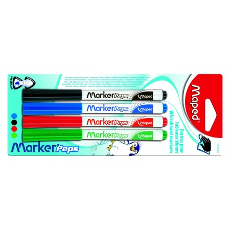 Gekleurde Maped whiteboard stiften