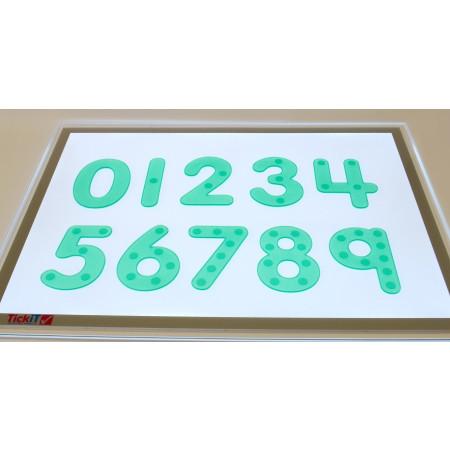 Siliconen cijfers met stippen groen