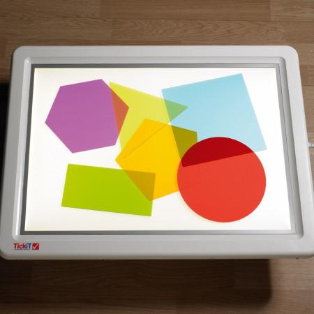 Jumbo kleuren vormen mix met lichtpaneel