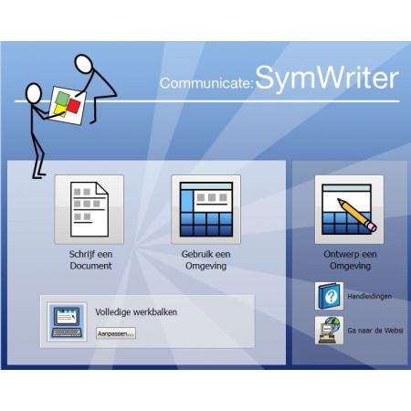 Symwriter beginscherm