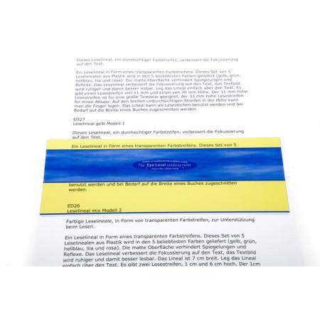 leesliniaal geel model 1