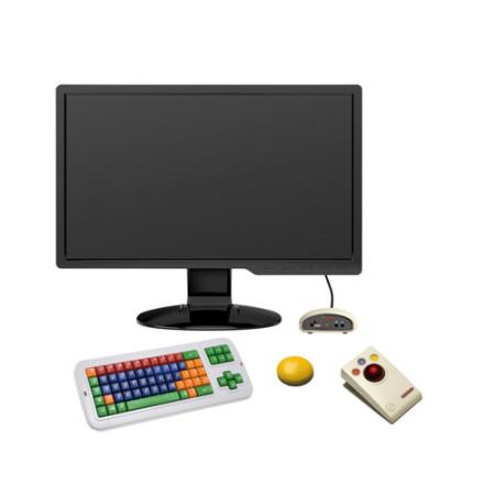 Kleine draadloze knop met PC