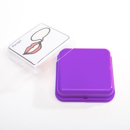 paarse praatknop