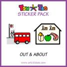 TomTag stickerpakket buitenshuis