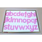 Siliconen letters met strepen roze